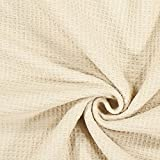 Fabulous Fabrics Frottee Waffelpiqué – Hellbeige —