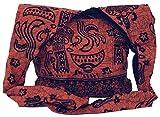 Guru-Shop Sadhu Bag, Schulterbeutel, Hippie Tasche - Orange, Herren/Damen, Baumwolle, Size:One Size,...