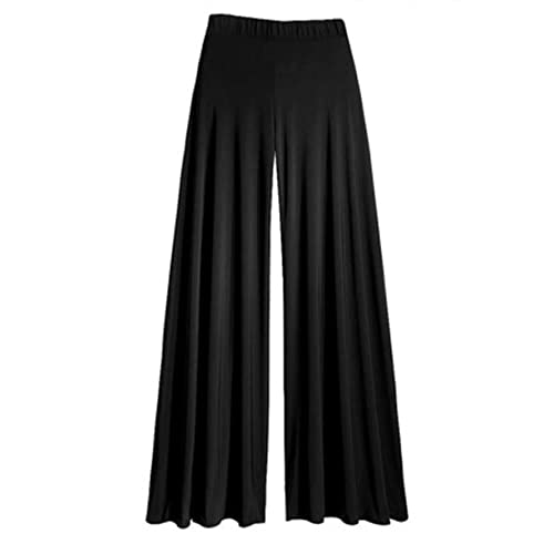 041204f422e Gothic Wide Leg Flattering High Waist Stretch Palazzo Pants Trousers in 16  Classic Styles Size