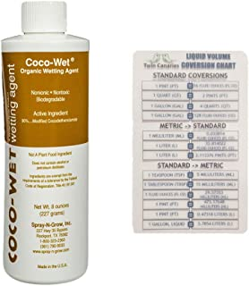 Coco-Wet Wetting Agent, 8 oz Bottle (1 Pack) + Twin Canaries Chart