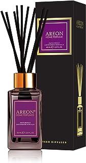 Areon Home Perfume Reed Diffuser 85 ml Premium 10 Rattan Reeds - Patchouli, Lavender & Vanilla