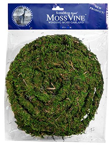 Super Moss (22711) MossVine Garland, Fresh Green, 12ft
