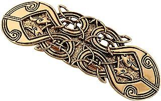 Lovoski Vintage Celtic Hair Pin Metal Hair Barrettes Clips Hairpin Headwear - Viking Hair Accessories for Women Girls - Go...