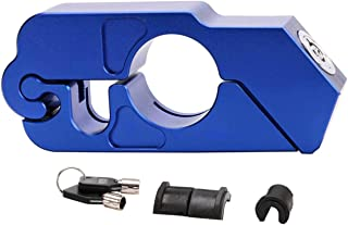 Motorcycle Lock, Aluminum Alloy Anti-Theft Brake Level Lock,A Grip/Throttle/Brake/Handlebar Lock to Secure Your Bike, Scooter, Moped or ATV in Under 5 Seconds (Blue)