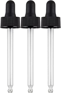 Piping Rock Glass Dropper 3 Pack Fits 2 oz Bottles