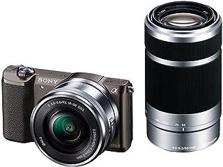 ソニー SONY ミラーレス一眼 α5100 ダブルズームキット E PZ 16-50mm F3.5-5.6 OSS + E 55-210mm F4.5-6.3 OSS ブラウン ILCE-5100Y-T