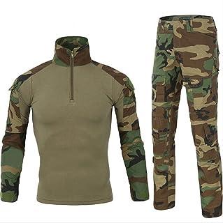 HARGLESMAN Men's Military BDU Uniform Tactical Combat Training Suit Paintball Shirt with Pant