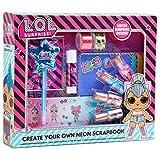 L.O.L. Surprise! Kit de Manualidades Niños Scrapbooking, Incluye Scrapbooking Materiales de Las Muñecas LOL Album Fotos Scrapbook Pegatinas Infantiles, Regalos Originales para Niños