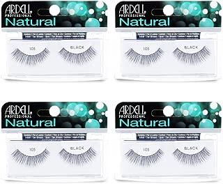 Ardell Natural Lashes False Eyelashes 105 Black (4 pack)