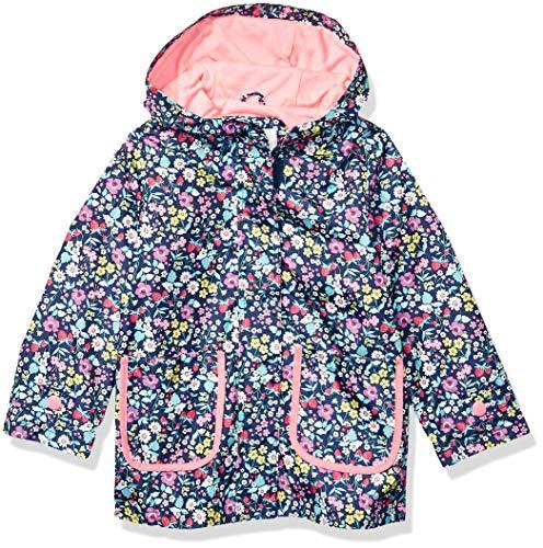 Carter's Girls' Little Her Favorite Rainslicker Rain Jacket, Ditsy Floral On Navy 4