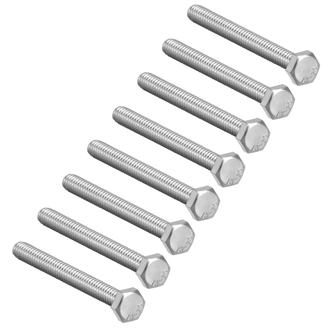 uxcell M8x100mm Hex Bolts 304 Screw Limited Brand new Special Price Stainless Bolt Steel Hexagon