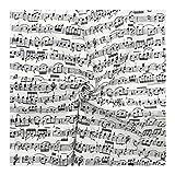 WGD Bu 1pcs 110cm Breit Klassische Musik Gewebe Baumwolle
