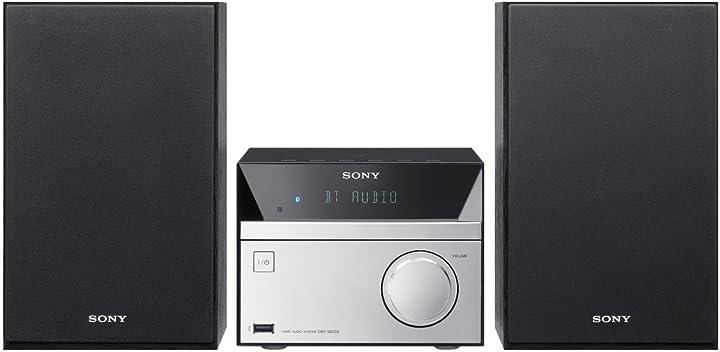 Sistema hi-fi sony cmt-sbt20b lettore cd radio fm/dab usb nfc bluetooth 12w nero/argento B01E230ISO