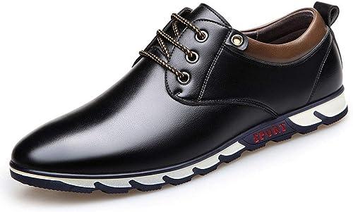 MALPYQ Bureau en Cuir pour Hommes et Chaussures Casual pour Hommes Confortables