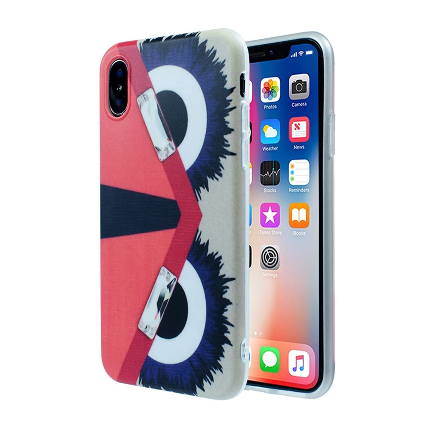 iPhone X /10 Designer Face Eyes Case: Luxury Durable Designer Womens Protective TPU Cover/Bumper/Skin/Cushion - Latest Fashion Trend (fits 5.8
