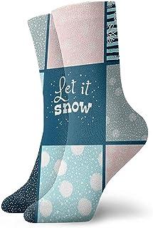 Kevin-Shop, Calcetines Tobilleros sin patrón de Copo de Nieve Calcetines Casuales y acogedores para Hombres, Mujeres, niños