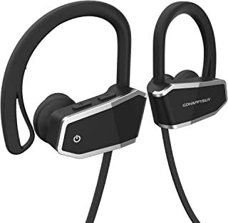 GDHAPPYBUY IPX7 Waterproof and Sweatproof Wireless Bluetooth Headphones Headset Earbuds for Sport - Hi-Fi Sound,Superb Bass and 8-10 Hrs Playing Time