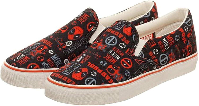 Marvel Deadpool Faces Black Red Unisex DEK shoes