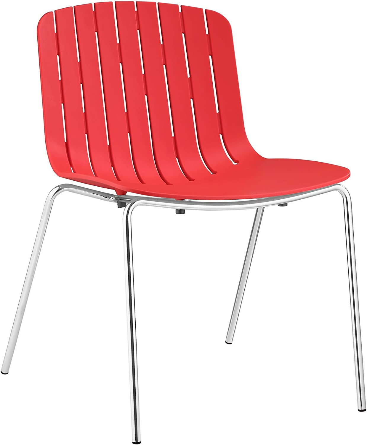 Modway Trace Dining Side Chair, Red