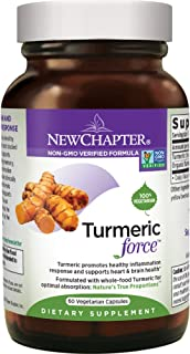 New Chapter Turmeric Supplement, One Daily, Joint Pain Relief + Supercritical Organic Turmeric, Black Pepper Not Needed, N...