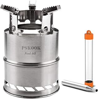 PSKOOK Wood Burning Camp Stoves Portable Stove Outdoor Camping Cooking Picnic Backpacking