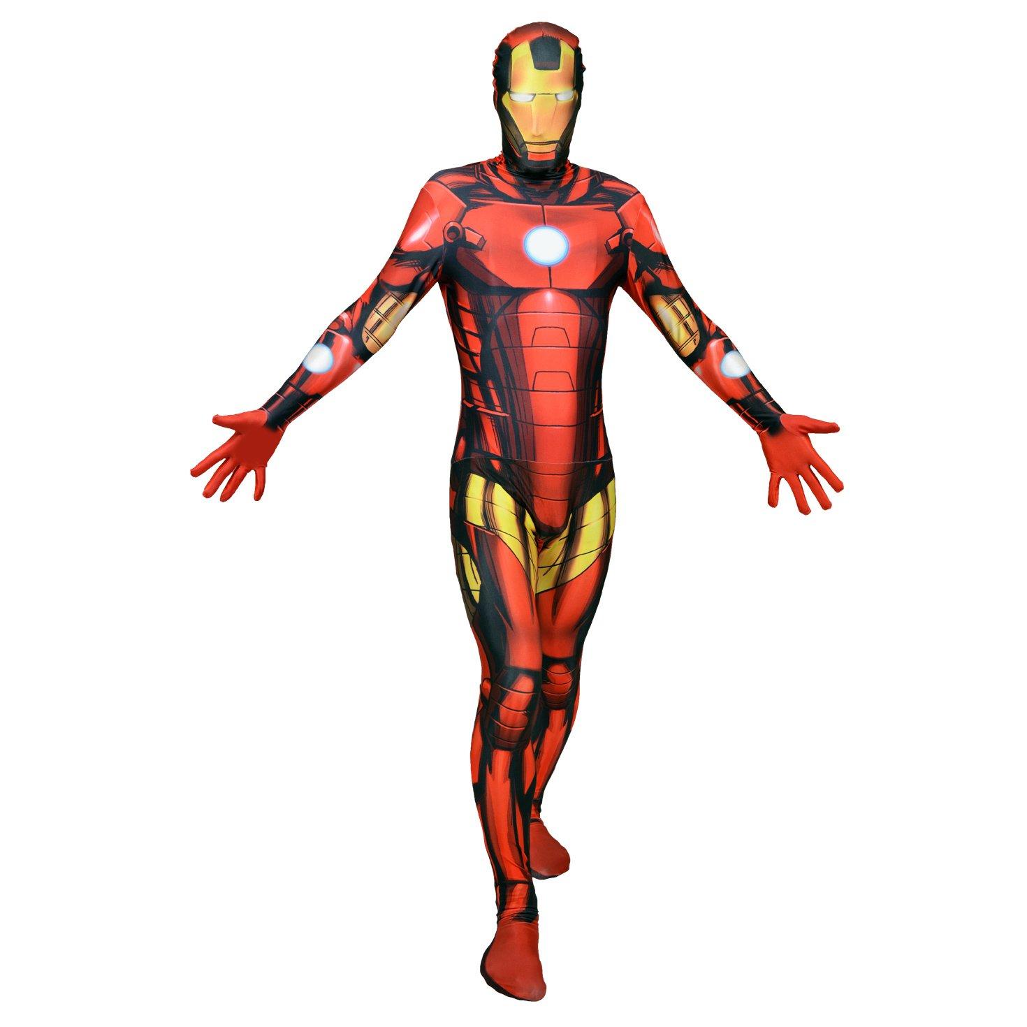 Morphsuits - Disfraz para adulto Iron man Marvel, talla XL (MLIRMX ...