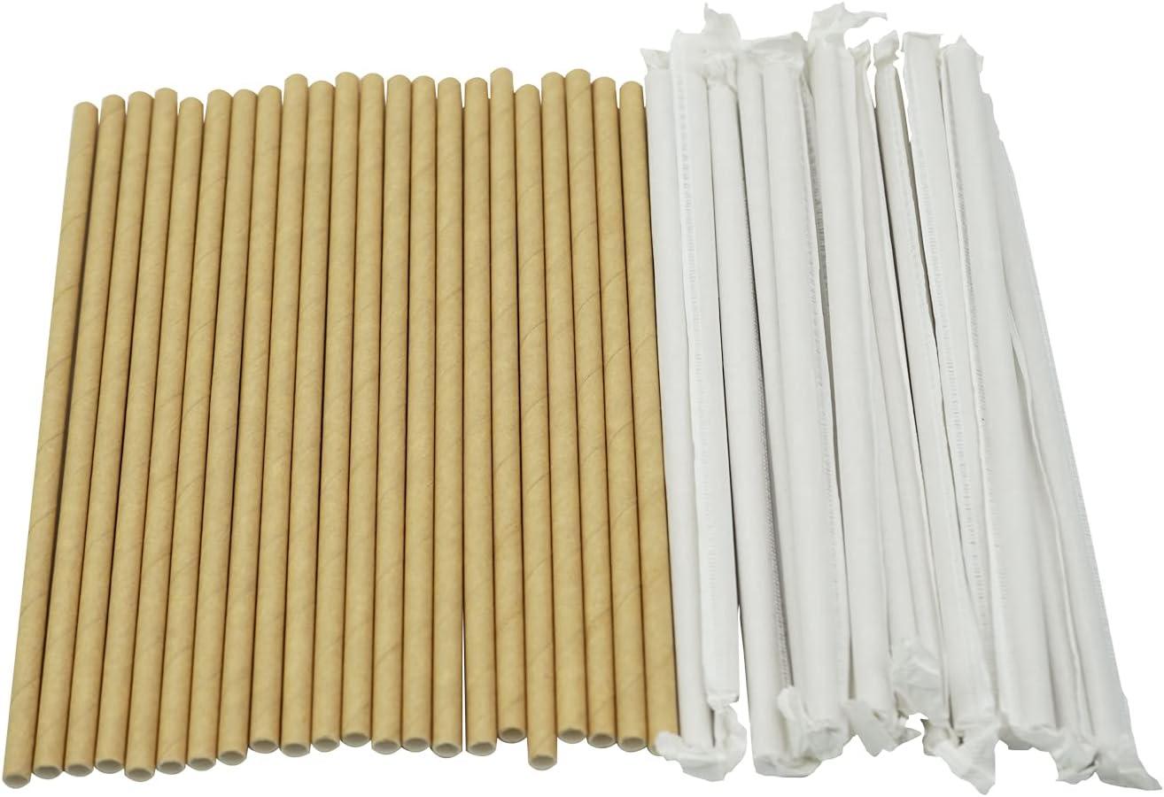 Szeyuen 200Pack Disposable Paper Rapid rise Biodegradable Ranking TOP11 Straws Drinking