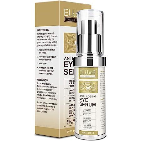 Anti Ageing Eye Serum - Eye Cream - Anti Wrinkle Eye Serum for Puffy Eyes, Dark Circles, Eye Bags, Crows Feet, Wrinkles,Reduces Wrinkles Saggy Skin Puffy Eyes