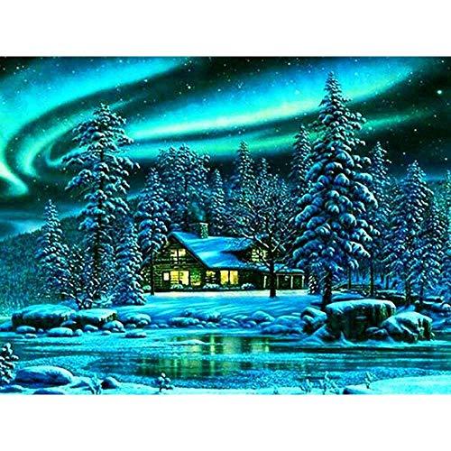 XCJX 30 * 40cm frameless 5D diamond painting wonderful scenery full diamond painting bedroom cross stitch mosaic handmade