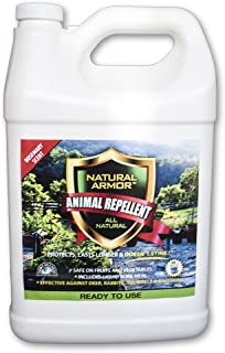 Repellent Spray for Rodents & Animals. Cats, Rats, Squirrels, Mouse & Deer. Repeller & Deterrent for Dogs, Critters, Mice, Raccoon & Skunk. Natural Armor Rosemary Gallon Ready to Use