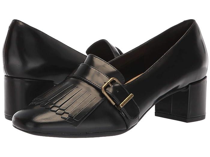 60s Shoes, Boots | 70s Shoes, Platforms, Boots Clarks Tealia Maye Black Patent Leather Womens  Shoes $109.95 AT vintagedancer.com