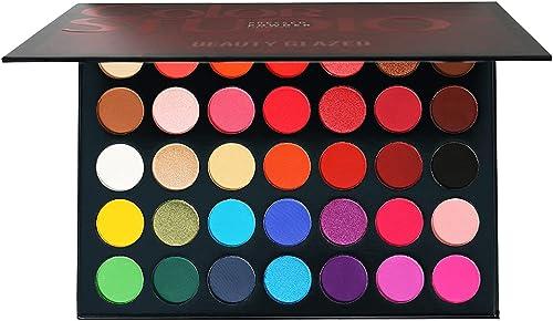 35 Color Studio Palette de fards à paupières Palette de maquillage, nuances de couleurs parfaitement combinables, tex...