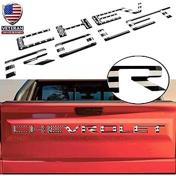 Pro USA Flag EyeCatcher Pro Series Tailgate Insert Letters fits 2019-2020 Chevrolet Silverado