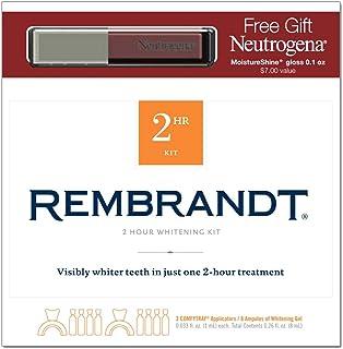 Rembrandt 2 Hour Whitening Kit with Neutrogena Lip Gloss