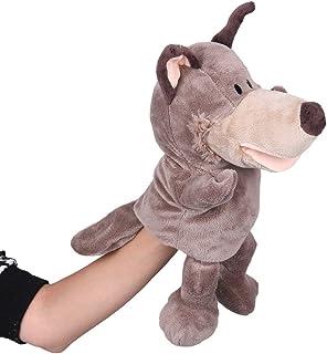La vogue Puppet/Marionetas De Mano De Juguete Para Bebé Niños Lobo Café