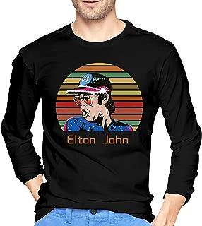 Men's Elton Farewell Tour Yellow Brick John Long Sleeve Round Neck Shirt