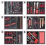 KS Tools 714.0452 Composition d'outils 6 tiroirs pour servante, 455 pièces, Noir
