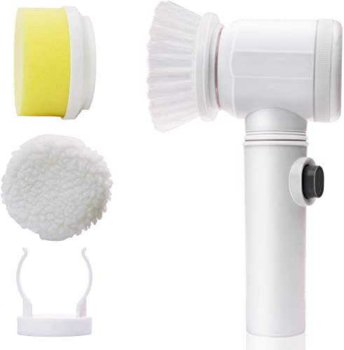 GION 5 in 1 Bathtub Electric Multi Functional ABS Plastic Household Tools Bath Kitchen Cleaning Magic Brush
