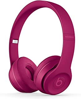 Beats by Dre Solo 3 Wireless On Ear Headphone Neighborhood Collection Brick Red (Renewed)