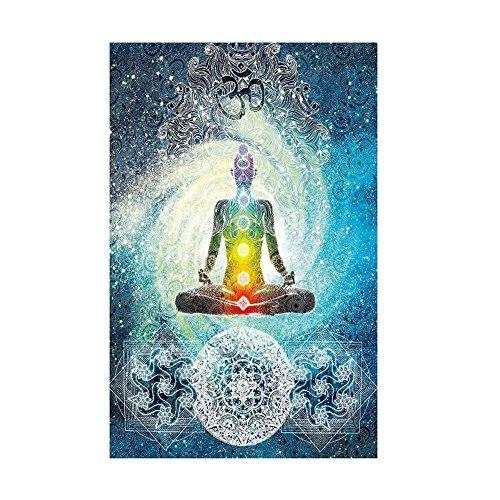 Pared Alfombra Psychedelic Mandala India hippie Chakra de impresión tapiz pared adornos Tapestry Gypsy Bohemian pared Decor 150x 130cm 150 x 130 cm