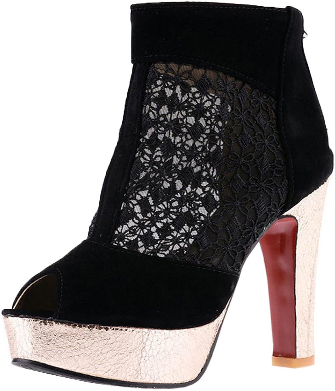 KemeKiss Women Platform Summer Boots