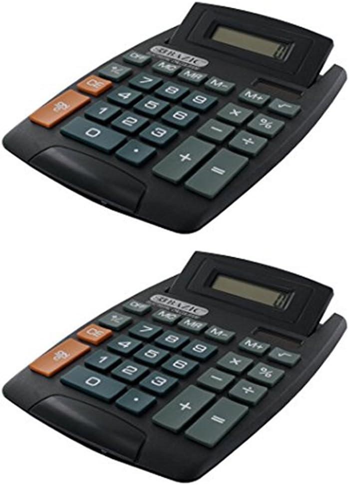 Manufacturer direct delivery 2 Desktop Calculator BAZIC Desk Large discharge sale Tilt Office Display Schoo Adjust