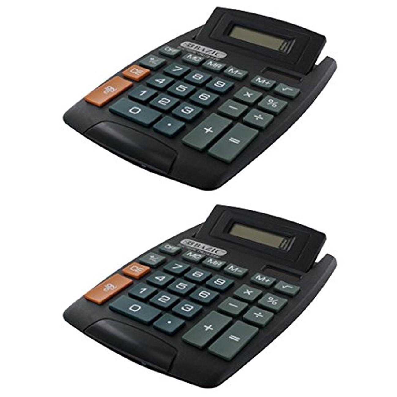 ヘビ申し込むトラフィック2デスクトップ電卓Bazicデスク調整角度調整オフィス学校ホーム8桁表示