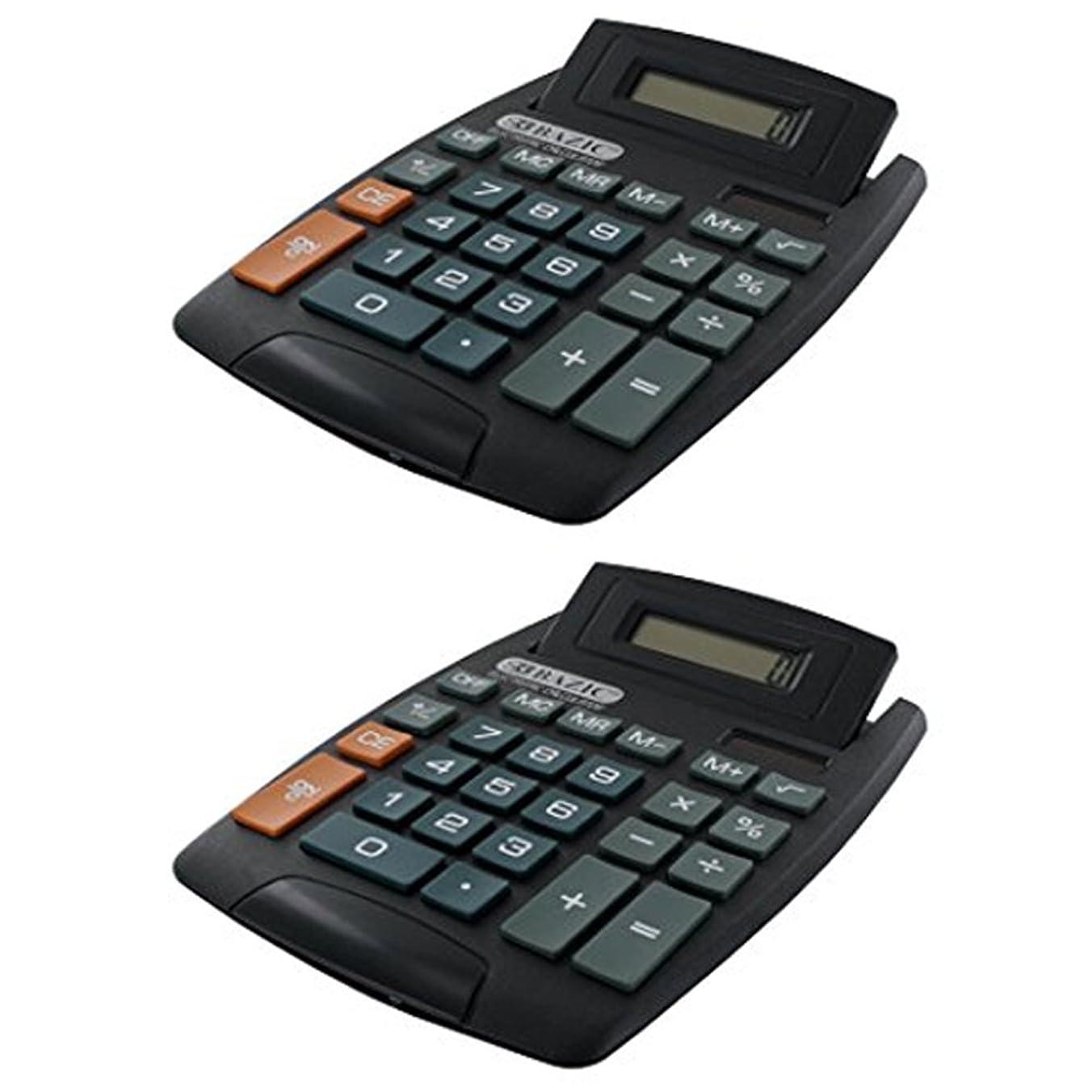 サスティーンプレビューあまりにも2デスクトップ電卓Bazicデスク調整角度調整オフィス学校ホーム8桁表示