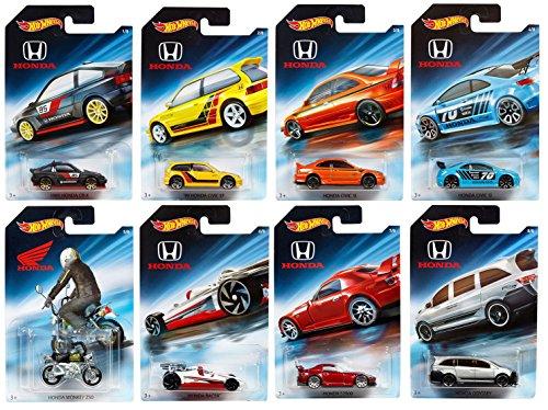 Hot Wheels 2018 Honda 70th Anniversary Bundle Set of 8 Die-Cast Vehicles, 1:64 Scale