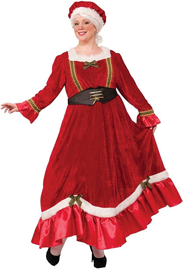 Make an Easy Victorian Costume Dress with a Skirt and Blouse Forum Novelties Womens Plus Size Mrs. Santa Claus Costume Multi Plus Size  AT vintagedancer.com