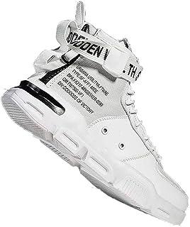 Sneakers Uomo Tinta Unita Casual Alto Top Sneakers Piatte Leggere Antiscivolo Scarpe da Tennis da Corsa per Atletica Legge...