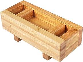 Cabilock Sushi Press Maker Rechteckige Holz Oshizushi Box Su