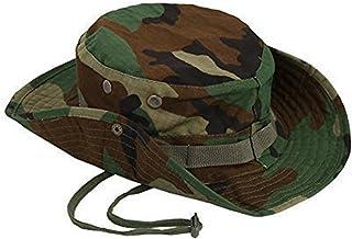 Bullidea Camouflage Hat Boonie Fisherman Rounded Sun Protection Hat Outdoor Climbing Jungle Men Women Tactics Cap, Dark Gr...