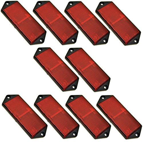 Réflecteur arrière Rectangulaire rouge Lot de 10 Clôture Remorque/Gate Poster TR073